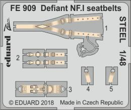 EDUARD ZOOM 1/48 Defiant NF.I seatbelts STEEL  for AIRF