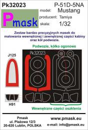 PMASK 1/32  Pk32023 Canopy Mask P-51D-5NA for Revell