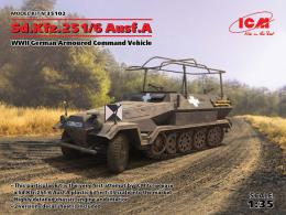 ICM 1/35  Sd.Kfz.251/6 Ausf.A WWII German Armoured Command Vehicle