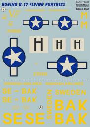 PRINT Decals 1/72 B-17 Flying Fortress in Sweden serv.