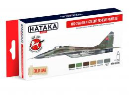 HATAKA Red  AS105 MIG-29A/UB 4 color scheme paint set