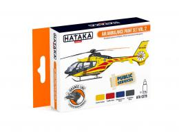 HATAKA Orange SET CS79 Air Ambulance paint set vol.2