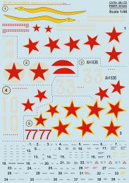 PRINT Decals 1/48 P-39 Airacobra Aces WWII Pt.1