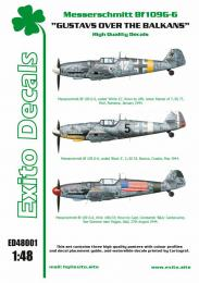 EXITO Decals 1/48 Gustavs over Balkans Bf-109G