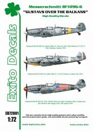 EXITO Decals 1/72 Gustavs over Balkans Bf-109G