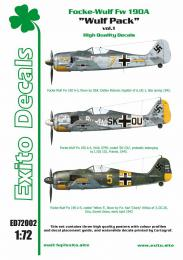 EXITO Decals 1/72 Wulf Pack vol.1 Fw-190