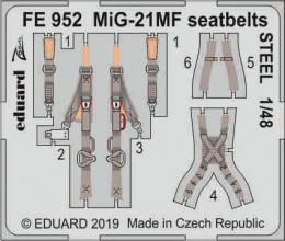 EDUARD ZOOM 1/48 MiG-21MF seatbelts STEEL for EDU