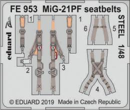 EDUARD ZOOM 1/48 MiG-21PF seatbelts STEEL for EDU