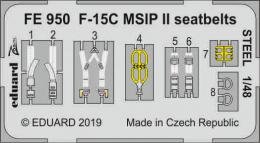 EDUARD ZOOM 1/48 F-15C MSIP II seatbelts STEEL for G.W.H.