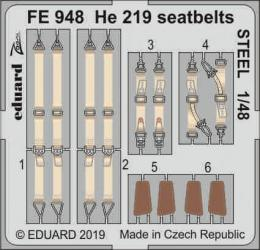 EDUARD ZOOM 1/48 He 219 Uhu seatbelts STEEL for TAM