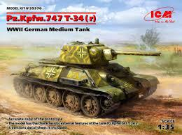 ICM 1/35 Pz,Kpfw. T34-747 in German Serv.