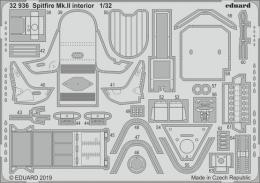 EDUARD Lepty 1/32 SET Spitfire Mk.II interior for REV