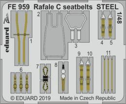 EDUARD ZOOM 1/48 Rafale C seatbelts STEEL for REV