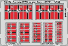 EDUARD SET 1/350 German WWII ensign flags STEEL