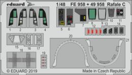 EDUARD Lepty 1/48 SET Rafale C interior for REV