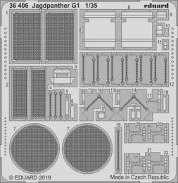 EDUARD Lepty 1/35 SET Jagdpanther G1 for MENG