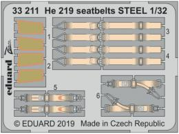 EDUARD Lepty 1/32 He-219 Uhu seatbelts STEEL for REV