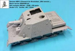 1/72 German WWII Zimmerit for Brummbar Mid. (DRAG)