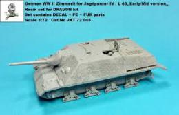 1/72 German WWII Zimmerit for Jagdpz.IV L/48 Early