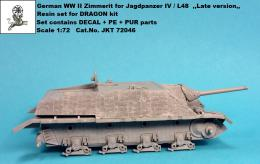 1/72 German WWII Zimmerit for Jagdpz.IV L/48 Late