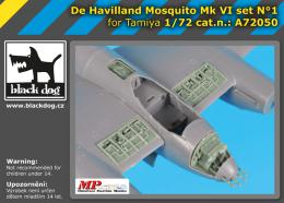 BLACKDOG 1/72 de Havilland Mosquito  FB.Mk.VI Set 1 for TAM