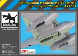 BLACKDOG 1/72 de Havilland Mosquito  FB.Mk.VI Set 2 for TAM