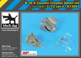 BLACKDOG 1/72 B.26K Counter Invader Detail set for ITA