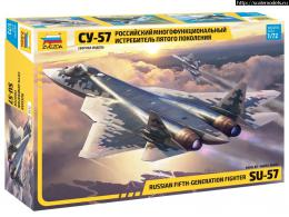 ZVEZDA 1/72 Sukhoi Su-57 Russian Stealth Fighter