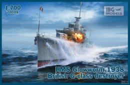 IBG 1/700 HMS Glowworm Mod.1938 British G-class Destroyer