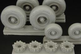 BRENGUN 1/48 C-130 wheels (resin set)