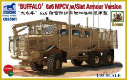 BRONCO 1/35 Buffalo 6x6 MPCV with Slat Grill Armor Version