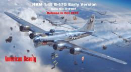 HK-Model 1/48 Boeing B-17G Flying Fortress - Early Tail