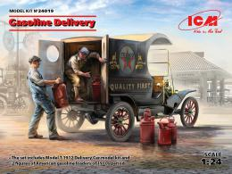 ICM 1/24 Gasoline Delivery: Ford Model T 1912 Delivery Car w/ American Gasoline Loaders