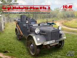 ICM 1/35 le.gl.Einheitz-Pkw Kfz.2 Light Radio Command Car