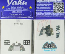 YAHU 1/48 Tempest Mk.V Instrument panel for EDU