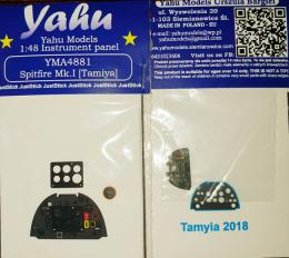 YAHU 1/48 Spitfire Mk.I Instrument panel for TAM