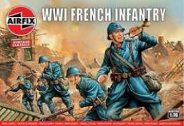 AIRFIX 1/76 WWI French Infantry Vintage Classic