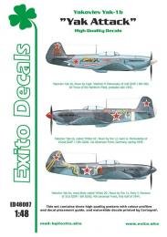 EXITO Decals 1/48 Yak Attack - Yak-1 Tigers