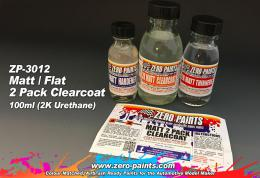 ZERO PAINTS 3012 Matt 2 Pack Clearcoat 100ml