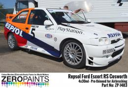 ZERO PAINTS 1483 Repsol Ford Escort RS Cosworth 4x30 ml