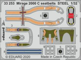 EDUARD SET 1/32 Mirage 2000C seatbelts STEEL for KTH
