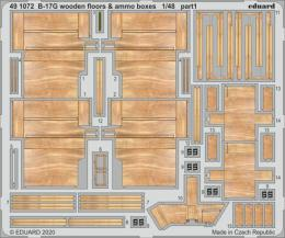 EDUARD SET 1/48 B-17 Flying Fortress wooden floors & ammo boxes for HKM
