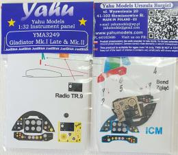 YAHU 1/32 Gladiator Mk.II Instrument panel for ICM