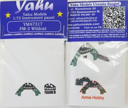 YAHU 1/72 FM-2 Wildcat Instrument panel for ARMA