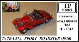 TP MODEL 1/43 TATRA 57A. Sport Roadster 1936 (resin kit)