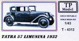 TP MODEL 1/43 TATRA 57 Limousine 1932 (resin kit)