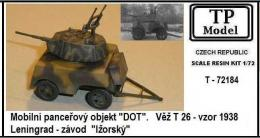 TP MODEL 1/72 Mobile armored DOT w/ turret T-26, m.1938
