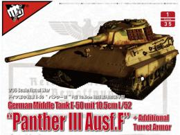 MODELCOLLECT 1/35 UA35015 German Middle Tank E-50 mit 10.5cm L/52 Panther III Ausf.F