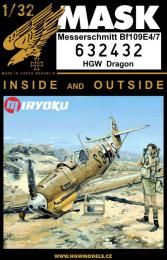 HGW 1/32 Mask Bf 109E-4/7 for DRA