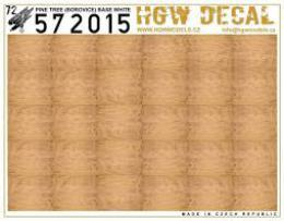 HGW 1/72 Decals Pine Tree - NATURAL (base white)